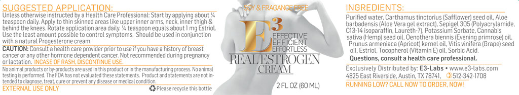 E3 Real Estrogen Cream